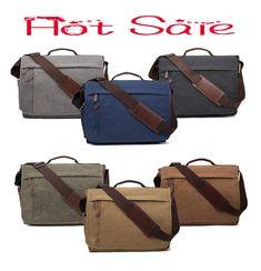 d63d34169092 Canvas Messenger Bag Shoulder Bags Laptop Bag 14-17 Inch Crossbody Bags   fashion