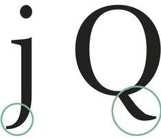 Cola: Extensión en la parte inferior de algunas letras.