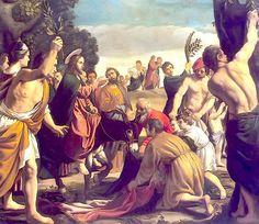 Entrada triunfal de Jesús en Jerusalén//1620//Museo del Hermitage;San Petersburgo -Pedro Orrente (España)