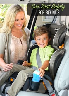 Car Seat Safety Tips for Big Kids - It's important they are properly restrained too! #ChiccoKidFit #IC #ad