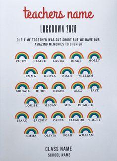 Personalised Class of 2020 School Print Lockdown Word Art | Etsy