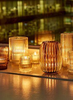 3 Smoke Pleated Glass Votive Holder, Set of 4 Glass Votive Candle Holders, Glass Tea Light Holders, Votive Candles, Candle Centerpieces, Glass Candlesticks, Tea Lights, Fairy Lights, Wedding Themes, Diy Wedding