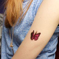 3D Borboleta Decalques de Tatuagem Body Art Decalque Borboleta Voando Papel Tatuagem Temporária À Prova D' Água em Tatuagens temporárias de Beleza & Saúde no AliExpress.com | Alibaba Group