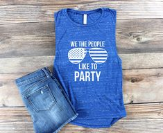 Womens Graphic Tee / USA Shirt / USA Tank Top / 4th of July / Patriotic Shirt/  America Shirt / Day Drinking Shirt / Muscle Tank / Muscle Shirt / merica Shirt