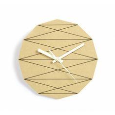 geometry wooden clock
