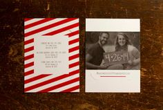 Jessica & Andy's Holiday Carrier Card and Photo Save the Date Magnet