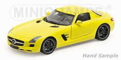 2010 Mercedes-Benz SLS AMG - Yellow by Minichamps (1:18 scale) $123