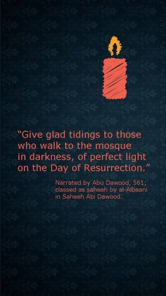give glad tidings to those.