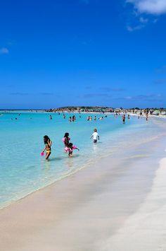 Swimming in Elafonissi beach, Crete island ~ Greece
