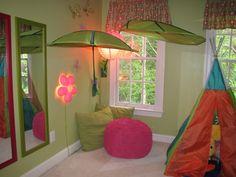 Playroom with ikea leaf canopy