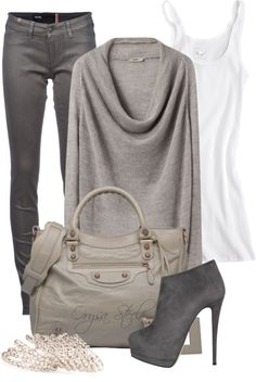 """""""Shades of Stone"""" by orysa ❤ liked on Polyvore"""