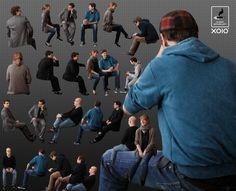 Free - cutout people – greenscreen sitting