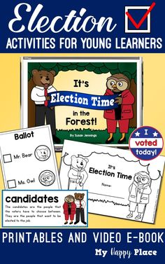 Election Day: Video E-Book and Printables Pack Kindergarten Social Studies, 5th Grade Social Studies, Kindergarten Activities, Thematic Units, Election Day, Math Resources, Second Grade, Elementary Schools, Teaching Ideas