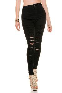 Skinny Hose mit Schlitzen