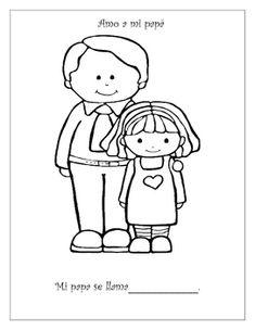 Dibujos de día de la madre. Abuelos Nietos, Colorear con