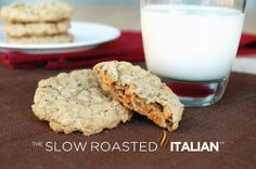 The Slow Roasted Italian: Soft and Chewy Butterscotch Oatmeal Cookies - Not your Grandmother Oatmeal cookie!  These fantastic Butterscotch Oatmeal cookies are soft, chewy. sweet and comforting!