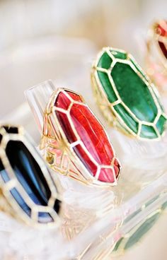 Kendra Scott // jewelry // cocktail ring // red // black // emerald // photography by Kelly Rucker