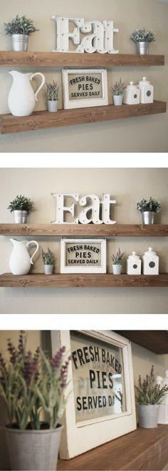 Floating Shelf | Rustic Floating Shelf | Ledge Shelf | Wooden Floating Shelf | Floating Shelves | Farmhouse Decor | Chunky Shelves | #ad