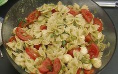 Pasta salade met Tomaat en Mozzarella