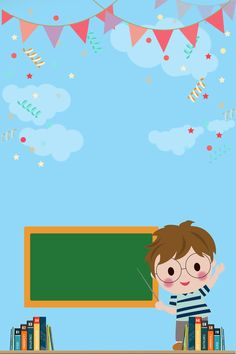 School Binder Covers, Baby Boy 1st Birthday Party, School Frame, Kids Background, Powerpoint Background Design, Book Wallpaper, School Posters, Bird Crafts, Frame Clipart