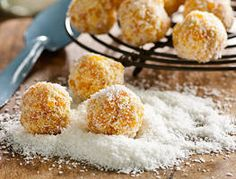 Here's a simple snack that you can pop into your children's lunchbox or serve up for a special afternoon tea. In fact Ed's apricot coconut balls are so easy to make even the kids can help out with this recipe.
