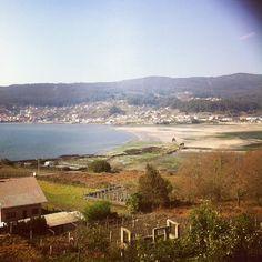 Praia de Campelo en Poio, Galicia