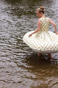 Boat dress by Jacqueline Bradle, perfect for those river rafting excursions where style is so important.