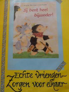 Een van de weinige prentenboeken rond beperkingen, 't is ontroerend hoe de vrienden elkaar helpen... Dit boek bracht een gesprek op gang in de klas...