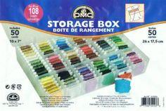 DMC STORAGE / THREAD ORGANISER BOX, Including 50x Card Floss Bobbins (6118)