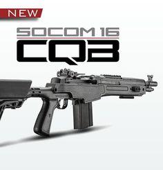 Socom 16 CQB Rifle- good base to start with Weapons Guns, Military Weapons, Airsoft Guns, Guns And Ammo, Tactical Rifles, Tactical Survival, Firearms, Shotguns, M1a Socom
