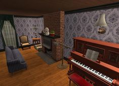 Sims Games, Sims Ideas, Music Instruments, House, Home, Musical Instruments, Homes, Houses