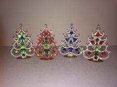 Lynda Willauer Antiques  Vintage Czech Rhinestone Christmas Trees, circa 1930s | New York Ceramics & Glass Fair