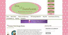 BLOGGING:  Pea of Sweetness custom Wordpress blog design