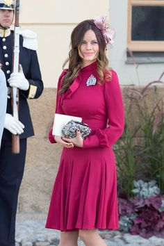 Princess Sofia are seen at Drottningholm Palace for the Christening of Prince Nicolas of Sweden on October 11, 2015 in Stockholm, Sweden.