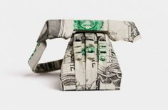 Origami made of money (See all 30 pics)