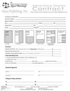 Verus Publishing, Inc. - Advertising Contract - advertising ...