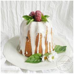 Gâteau au vin blanc et aux framboises