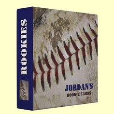 Personalized Baseball Rookie Card Binder from www.allthatart.com