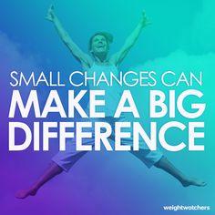 Little by little! #weightwatchers #motivation