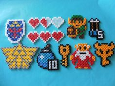 Nintendo Legend fo Zelda perler bead magnets by PorcupineSpines