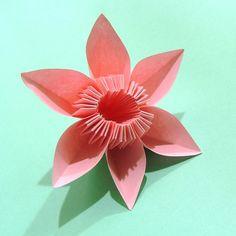 origami | Make Origami Flowers, Simple Origami Flower Design, Beautiful Origami ...