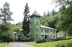 """Sanatorium """"Maria"""" w Rymanowie Zdroju."""