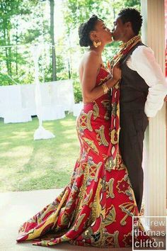African inspired wedding dress...