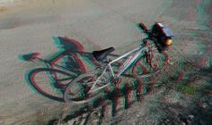 My bike (anaglyph view with red/blue glasses) | Flickr - Photo Sharing!