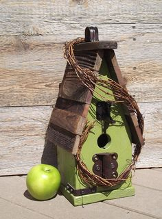 Shabby Chic Bird House - great color