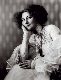 Austria. Emilie Flöge, Gustav Klimt's model, muse, and companion for years, in Klimt dress