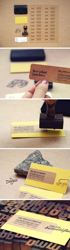 6 super easy ways to create handmade diy business cards ministry diy business cards created with printed stickers with the added bonus of a stamped message colourmoves