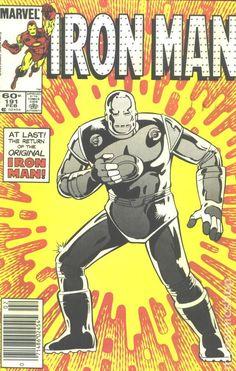 Iron Man (1968 1st Series) 191 Marvel Comics Modern Age Comic book covers Super Heroes Villians Tony Stark