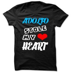 (Tshirt Deal Today) Adolfo Stole My Heart Cool Name Shirt Best Shirt design Hoodies, Funny Tee Shirts