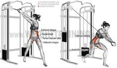Cable wood chop exercise